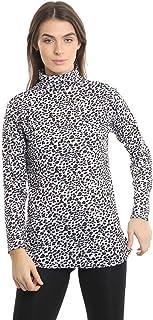 Momo&Ayat Fashions Ladies Jersey Leoaprd Print Polo Neck T-Shirt Top AUS Size 8-26