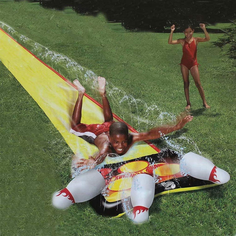 Bowling Wasserrutsche - kommt mit 3 Bowlingflaschen Lane Water Slide, Wasserrutsche Rutsche für Kinder
