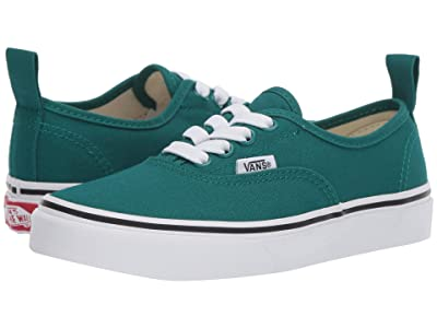 Vans Kids Authentic Elastic Lace (Little Kid/Big Kid) (Quetzal Green/True White) Kids Shoes