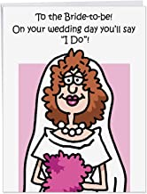 NobleWorks - Bride-to-Be - Big, Funny Bachelorette Card with Envelope (Jumbo 8.5 x 11 Inch) - Wedding Engagement Card for Women J9660