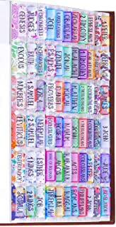 Decorative Bible Tabs, Floral Glitter Watercolor Golden Hearts, 90 tabs in Total, 66 tabs for Old and New Testament, Addit...