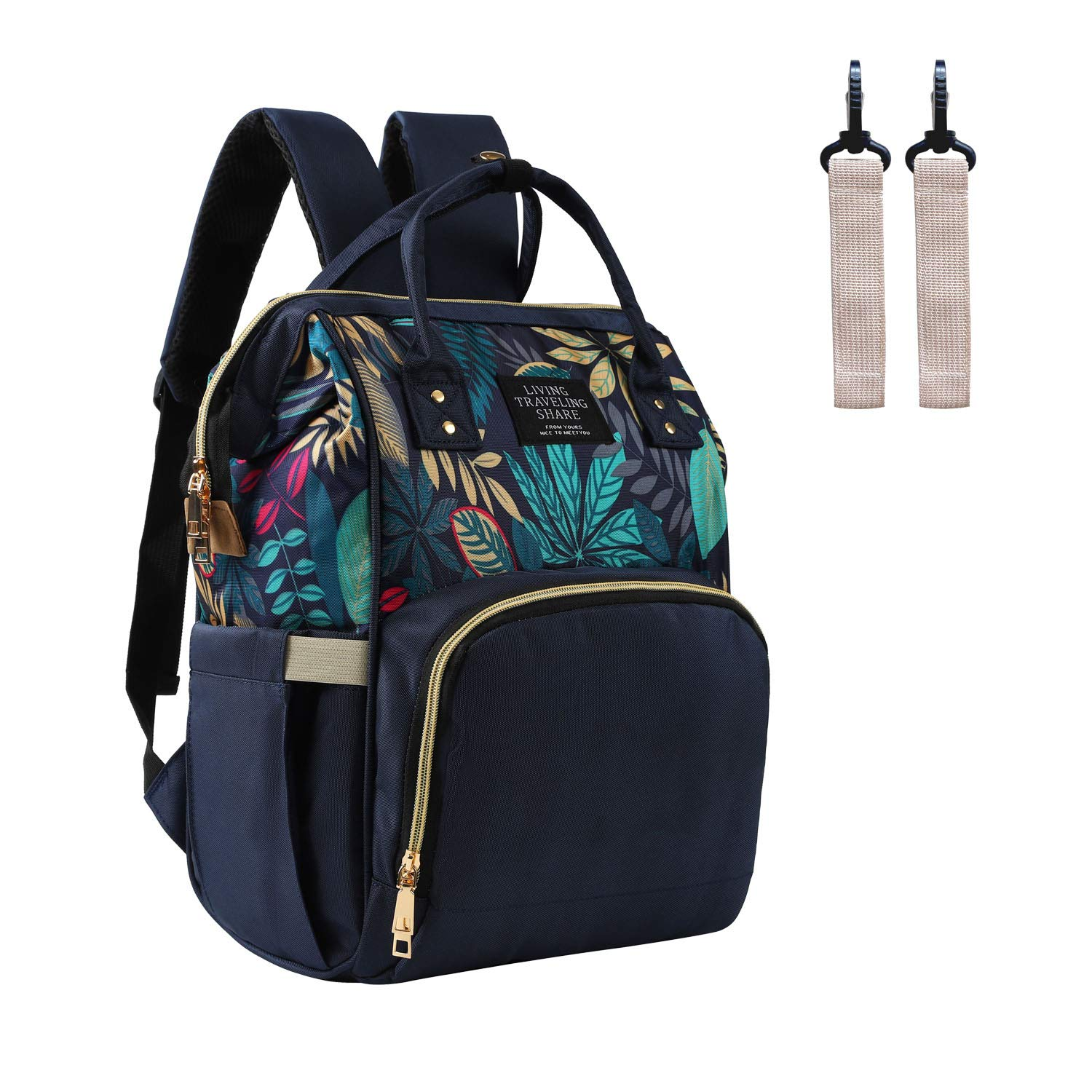 Diaper Bag Backpack Waterproof Maternity Diaper Bags for Baby Girl and Boy,Mufti-Functional Nappy Travel Backpack with Stroller Hook Large Capacity Baby Bag,Royal Blue