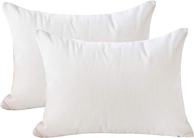 12x20 Throw Pillow Inserts Lightweight Down Alternative Polyester Pillow 2pk