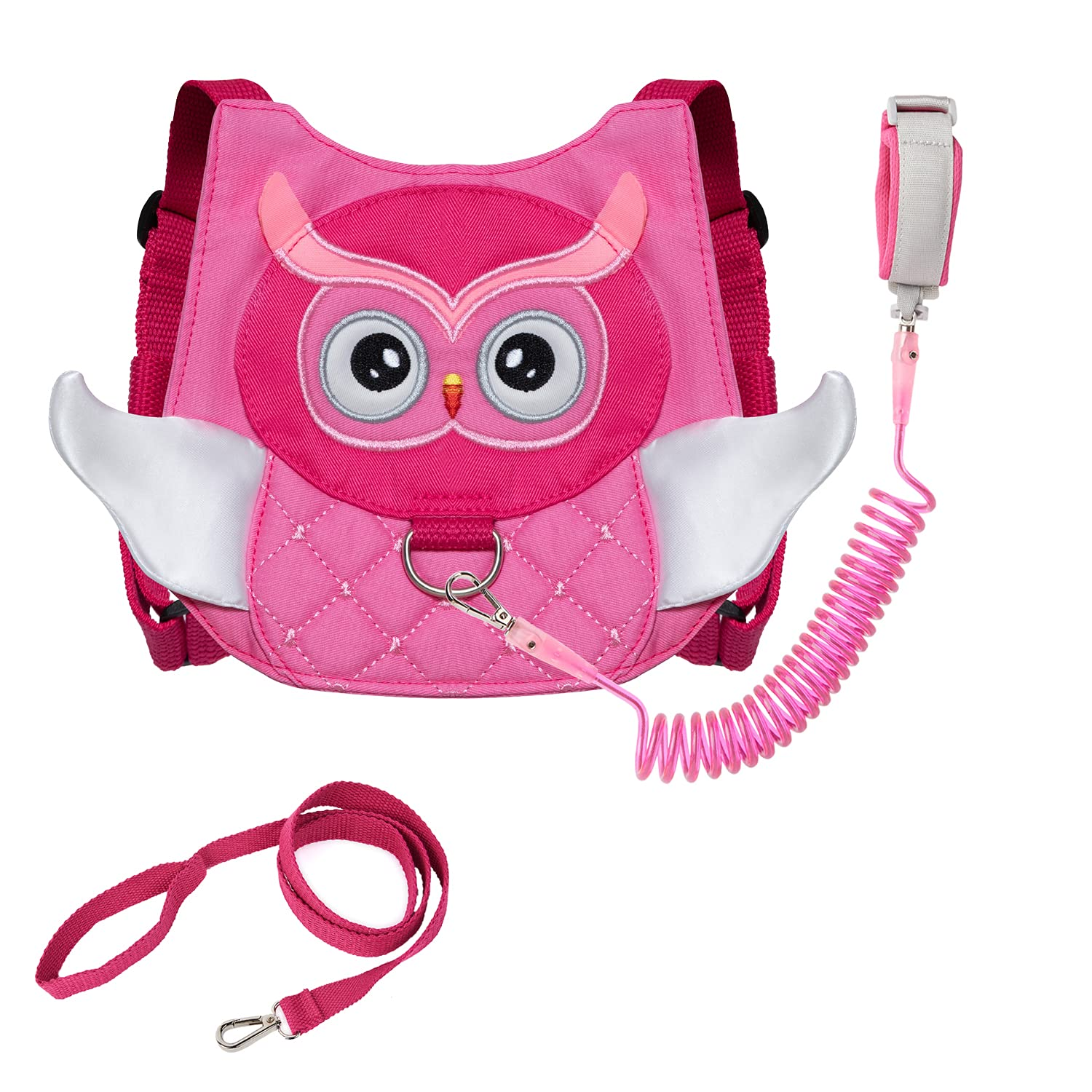Owl Toddler Harness with Leash Child Kid Anti-Lost Wrist Link Leash Wristband (Rose)
