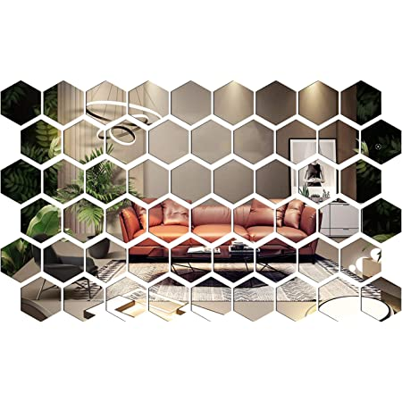 1 xSelf Adhesive Mirror Tile Wall Sticker Square room on Stick Bat Art Decor X6P1