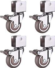 Wielen voor meubels 4x 1 inch Caster Wheels, Meubelcaster, Ushaped Bracket Mute Wielen Wielen, Swivel Rubber Casters met r...
