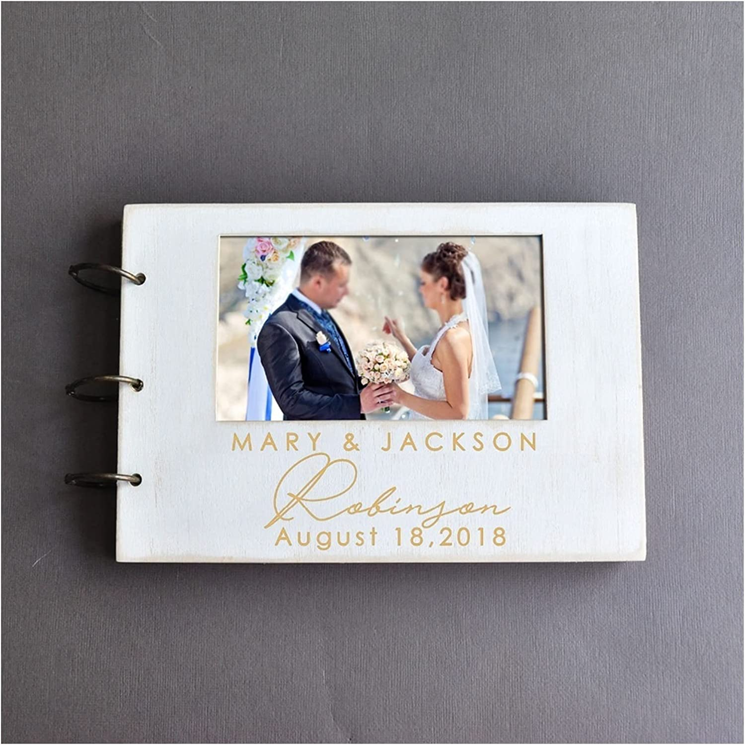 Max 55% OFF HUMINGG Max 80% OFF Wedding Guest Book Personalized Photo