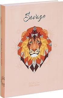 Exacompta - Agenda giornaliera Safari Leon, da agosto 2019 a luglio 2020-12 x 17 cm