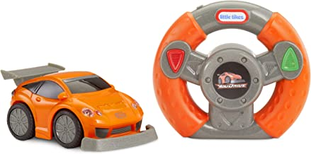 Little Tikes Youdrive Sports Car Orange & Grey with Easy Steering Rc Toy, Multicolor