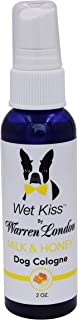 Warren London Wet Kiss Dog Cologne - Natural Smelling Deodorizer & Pet Odor Eliminator - 4 Scents - 2oz & 16oz - Made in USA