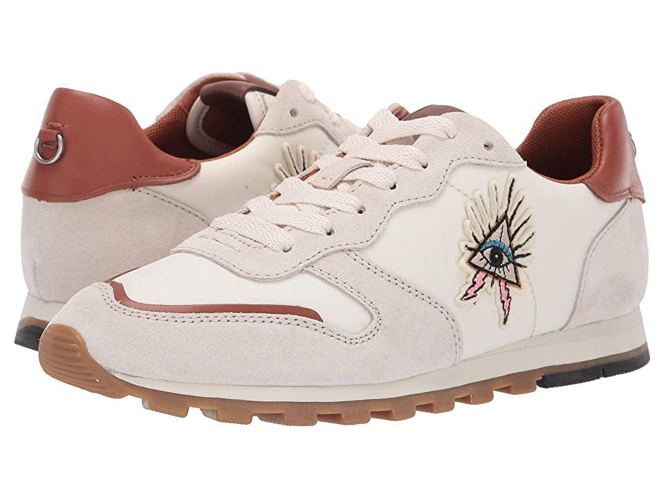 COACH C118 Runner with Pyramid Eye Patch (Chalk/Saddle Leather) Women