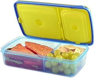Fit & Fresh 826KCH - Caja de almuerzo Bento con 3 compartimentos de almacenamiento de alimentos para niños, sin BPA, apto ...