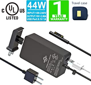 Surface Pro Surface Laptop Charger [UL Certified Updated Version] 44W 15V 2.58A Power Supply Compatible Microsoft Surface ...