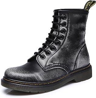 Honeystore Women's Classic Ckukka Bootie Lace up Flats Boots