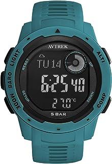 AVTREK Outdoor Digital Compass Watch Men Survival Watch Military Watches Waterpr
