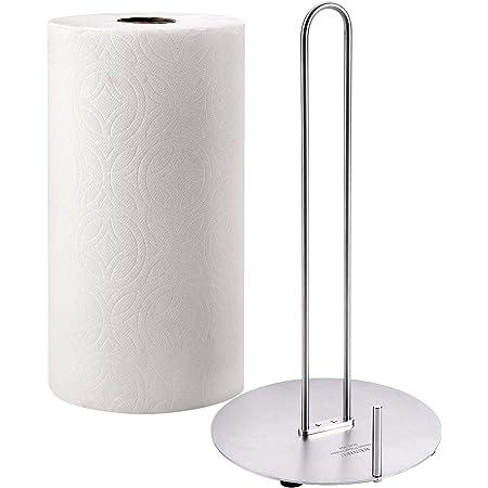 BANQLE Handmade upright Paper towel holders,kitchen Countertop,Standup Paper Towel Holder Silver