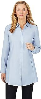 Foxcroft Women's Cici Essential Non-Iron Tunic Tunic Shirt