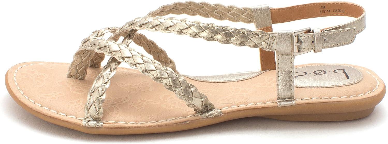 B.O.C. kvinnor Lauper Open Open Open Toe Casual Slingback Sandals, Pewter, Storlek 11.0  billigt försäljning online