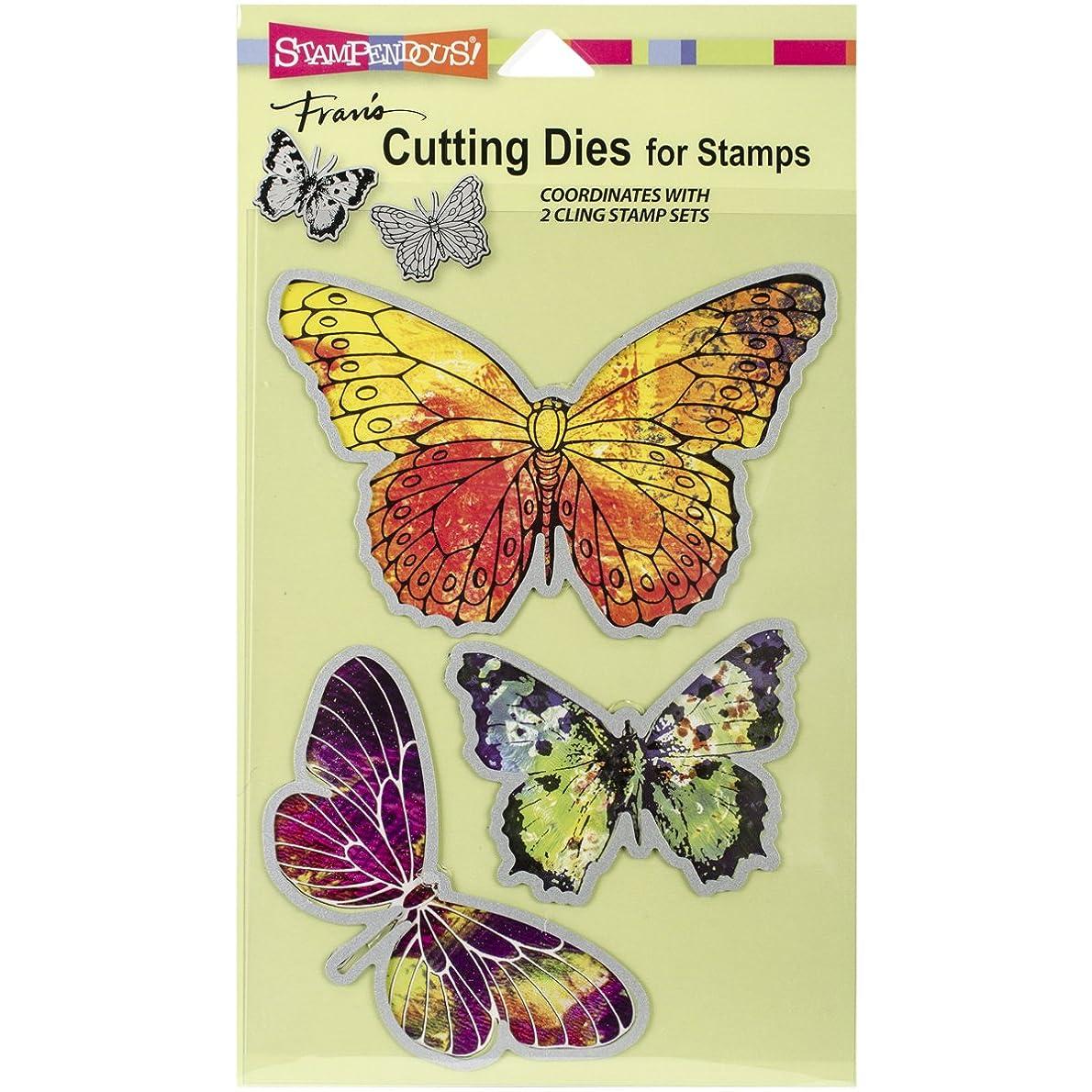 STAMPENDOUS Die Cut Set, Butterflies cghztn9342