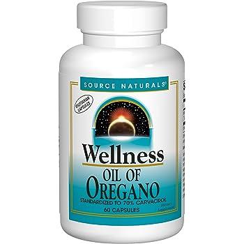 Source Naturals Wellness Oil of Oregano - Standardized to 70% Carvacrol - 60 Vegetarian Capsules