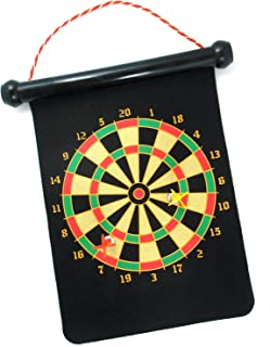 Xelue FF Classic Portable Double Sided Hanging Roll-up Magnetic Dart Board Safety for Kids Family