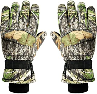 Flyme 3D Leaf Camouflage Gloves Outdoor Hunting Gloves Full Finger Anti-Slip Riding Gloves for Antumn Winter (Mixed Pattern)