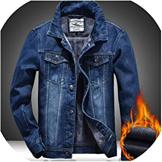 Autumn and Winter New Men Jeans et Thick Warm Mens Coat Plus Velvet Denim Wild Youthful Outwear 5XL