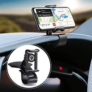 SDS Car Phone Holder 360-degree Rotation Cell Phone Holder Suitable for 4 to 7 Inch Smartphones, Rotating Dashboard Clip M...
