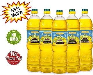 SUNVELLA SunPure Non-GMO High Oleic Sunflower Oil, Pressed-Unrefined (Pack of 5 x 33.8 FL OZ)