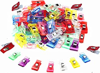 TECH-P Creative Life Wonder Clips, Paper Clips, Blinder Clips,Arts&Crafts Clips Multi-purpose Clips (Mix Color 2.7CM BY 1cm- 150 Pack)
