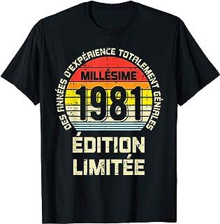 Anniversaire Edition Limitée 1981 40ème 40th Birthday Cadeau T-Shirt