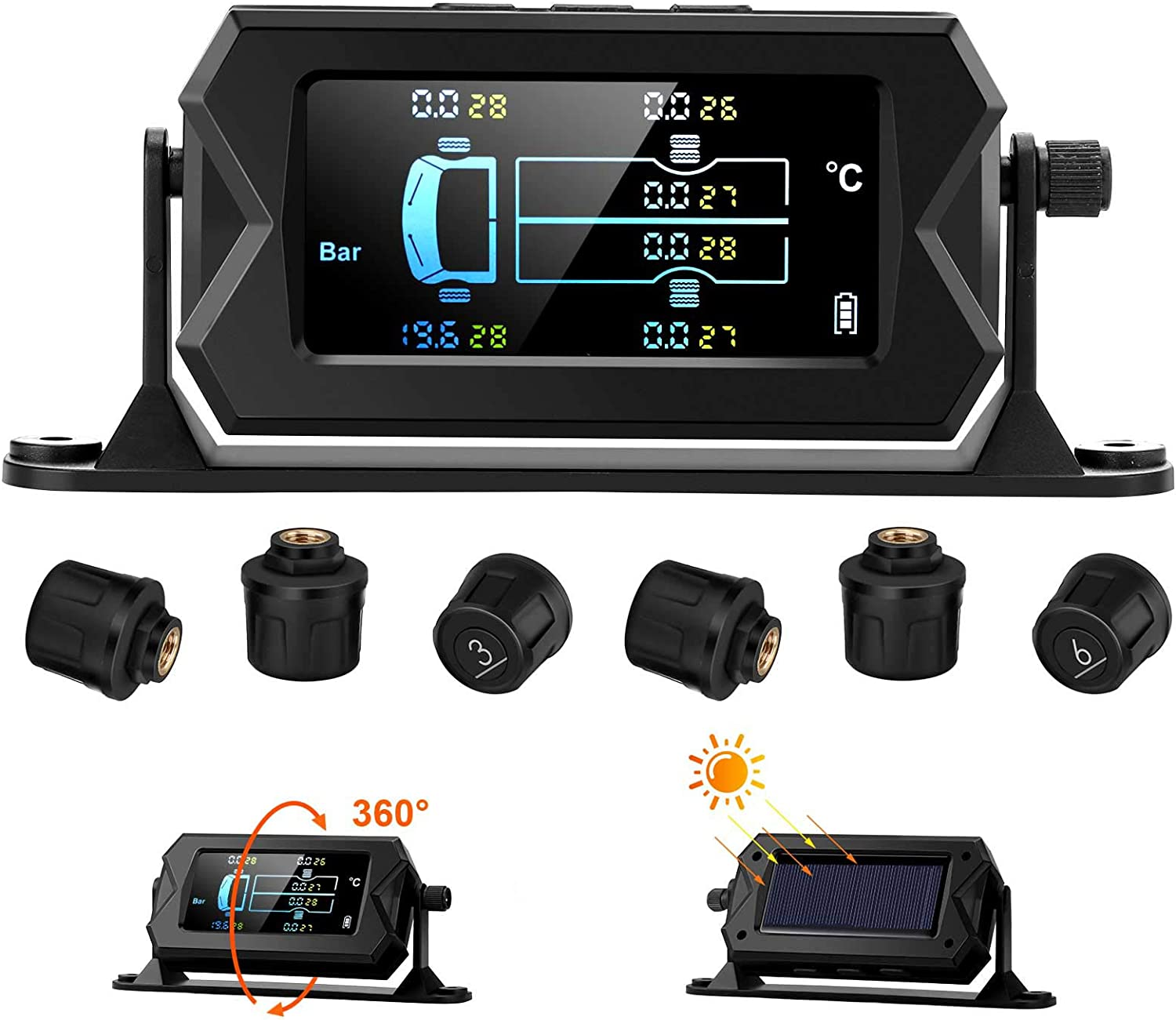 Blueskysea New products world's highest Be super welcome quality popular TS610 Tire Pressure Monitoring for Solar TPMS System
