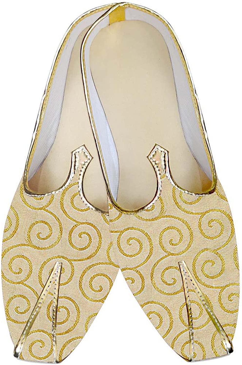 INMONARCH Mens Yellow Wedding shoes Ethnic MJ010247