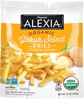 Alexia Organic Yukon Select Fries with a Touch of Sea Salt, Non-GMO Ingredients, 15 oz (Frozen)