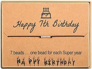 Happy Birthday Gifts Bracelet S925 Sterling Silver Beads Bracelet on Adjustable Women Girls 11st 12th 13th 14th 15th 16th 17th 18th 19th 20th 21th 25th 30th