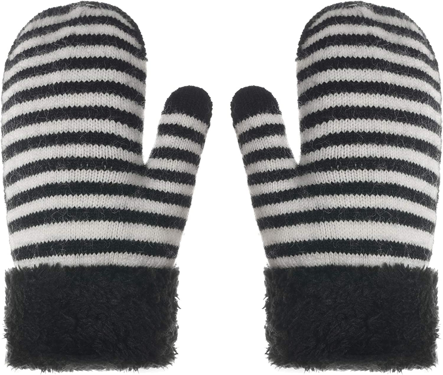 Baby Girl Cute Warm Beanie and Mitten Set with Fluffed Lining