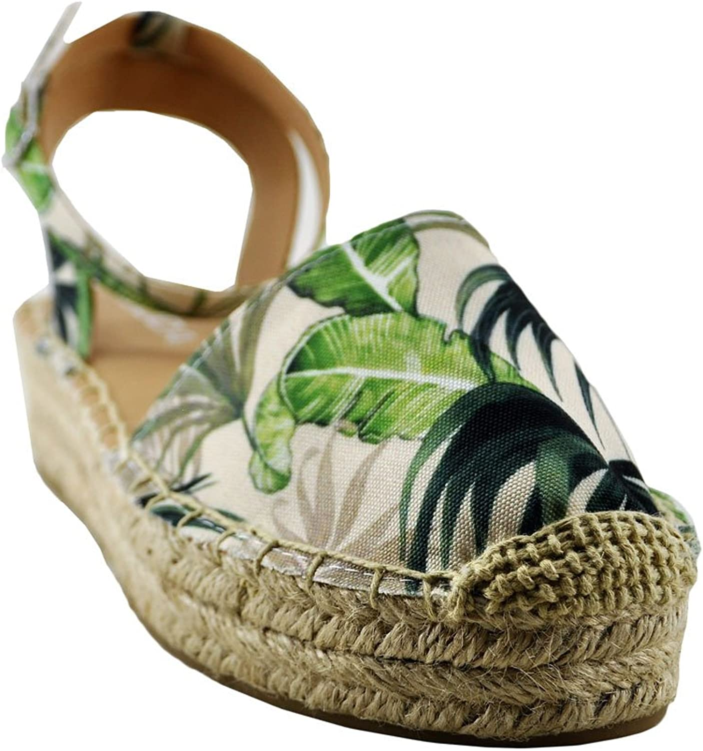 Soda Fiesta Women's Espadrilles Open Back Flat