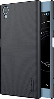 for Sony Xperia XA1 Plus Case,Nillkin [with Kickstand] Frosted Shield Anti Fingerprints Hard PC Case Back Cover for Sony Xperia XA1 Plus-Retail Package (Black, for Sony Xperia XA1 Plus)