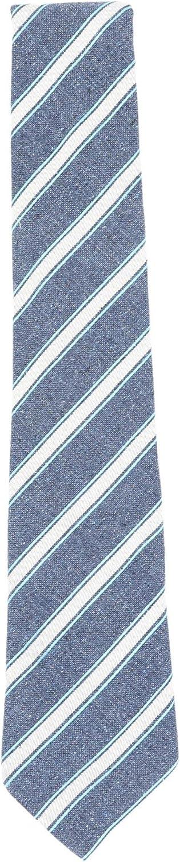 Canali Men's Silk and Cotton Diagonal Stripe Necktie