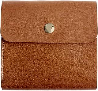 MIRACOLO 二つ折り ミニ財布 本革 イタリアンレザー 大きいフラップ かぶせ 薄い コンパクト メンズ レディース 全5色