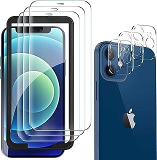GESMA per iPhone 12 Mini Vetro Temperato (3 Pezzi) e Pellicola Fotocamera per iPhone 12 Mini Protezione Lente Pellicola Po...