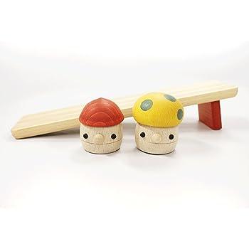おもちゃのこまーむ どんぐりの坂(小)セット(どんぐりころころ1、どんぐりきのこ1、どんぐりの坂小1)【木製玩具】日本製