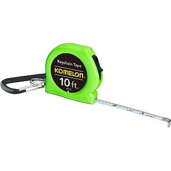 "Komelon 4110CS Keychain Tape Measure Acrylic Coated Steel Blade 10' by 1/4"", Green"
