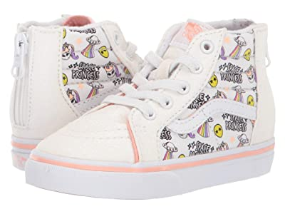 Vans Kids Sk8-Hi Zip (Infant/Toddler) ((Unicorn Alien) Glitter/True White) Girls Shoes