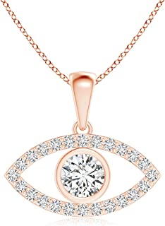 evil eye pendant diamond