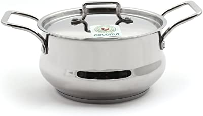 KCL Coconut Stainless Steel Tri-Ply Cartier Pot, 2000 ml (Diameter: 18 cm)