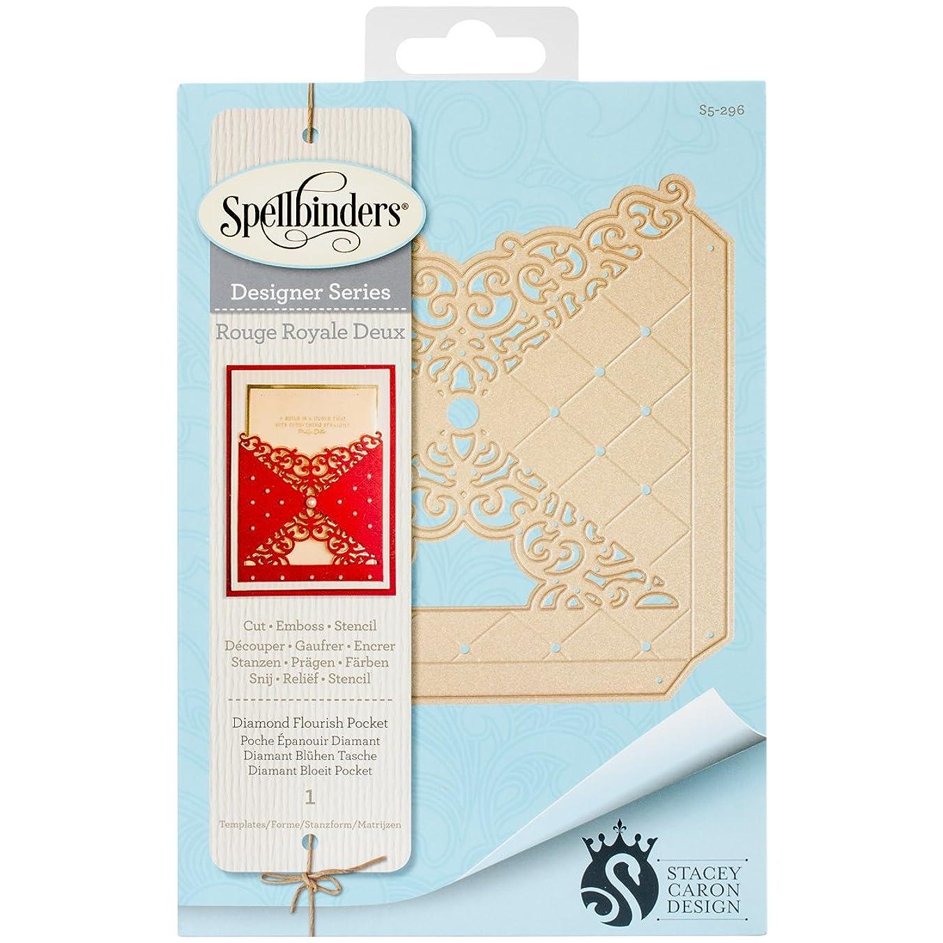 Spellbinders Diamond Flourish Pocket Etched/Wafer Thin Dies