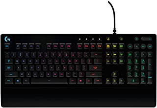 Logitech G 213 Prodigy Gaming Keyboard, RGB Lightsync Backlit Keys, Spill-Resistant, Customizable Keys, Dedicated Multi-Me...