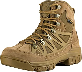 FREE SOLDIER Outdoor Men's Tactical Military Combat Ankle Boots Water Resistant Ligtweight Mid Hiking Boots