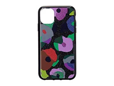 Kate Spade New York Glitter Floral Collage Phone Case for iPhone 11 (Black Multi) Cell Phone Case